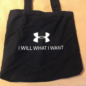 Navy blue Reversible under armour bag